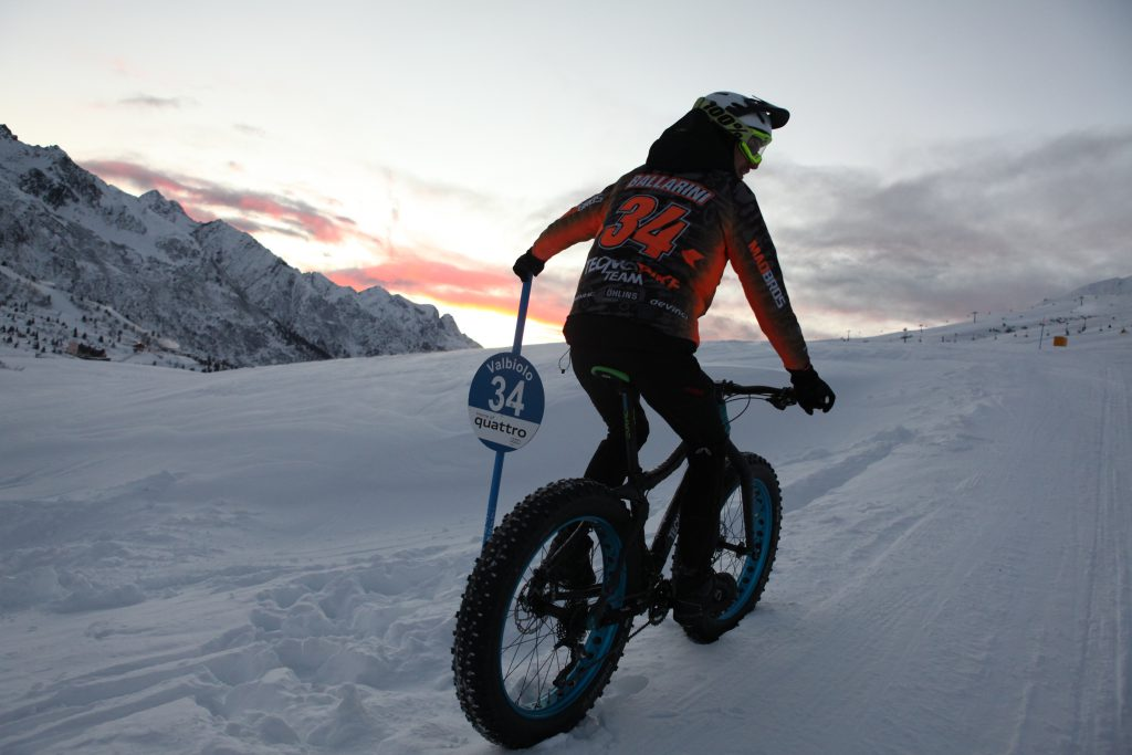 Tour Fat Bike snow downhill 1